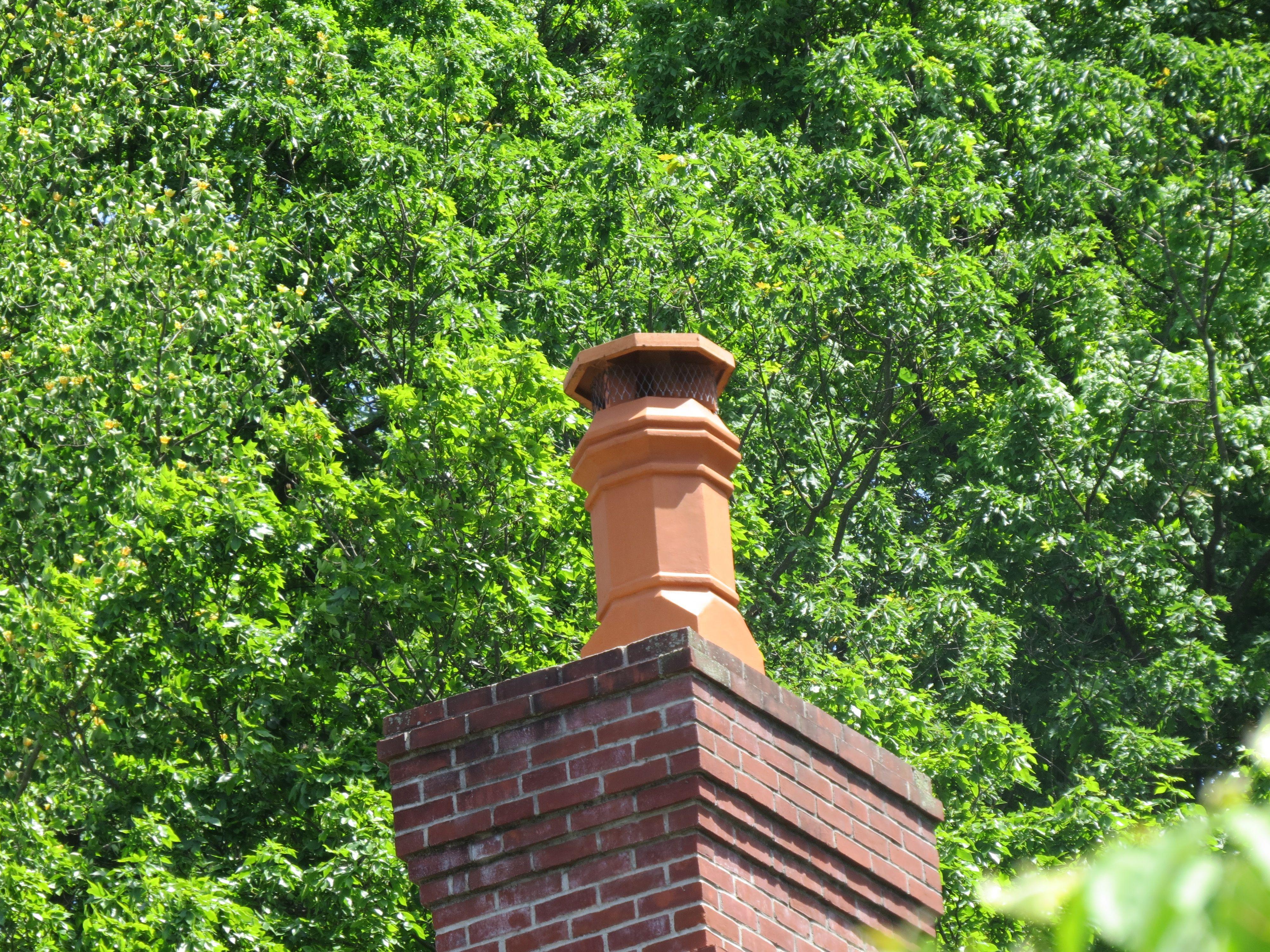 Rain Guard On Chimney Pot Adds Extra Protection Chimney Cap Terracotta Pot Image