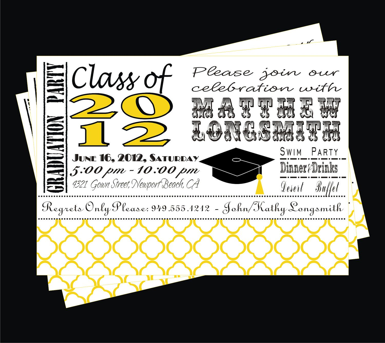 elementary school graduation invitations templates - Google Search ...