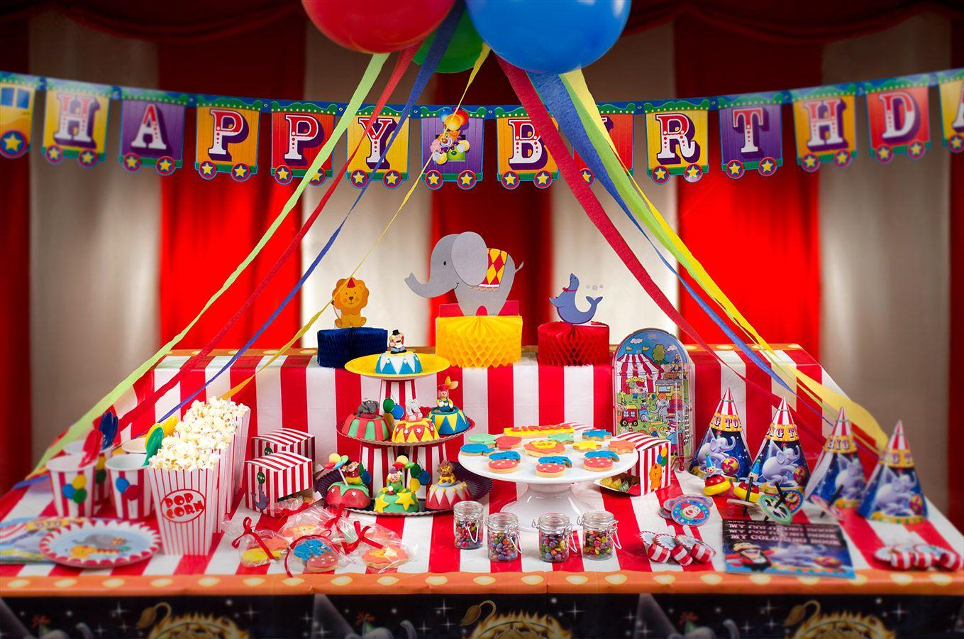 anniversaire theme cirque clown
