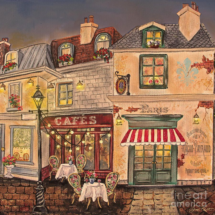 Paris Street Scene C Painting Street Scenes French