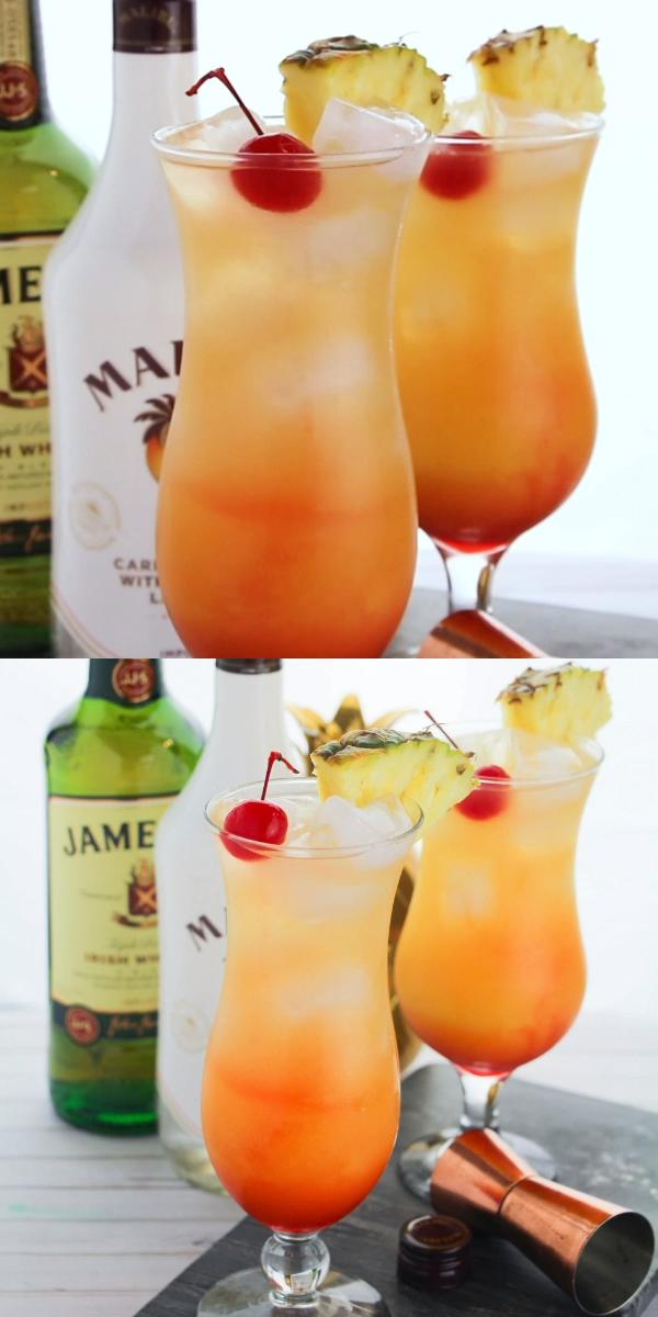 Coconut Rum Punch #cocktaildrinks