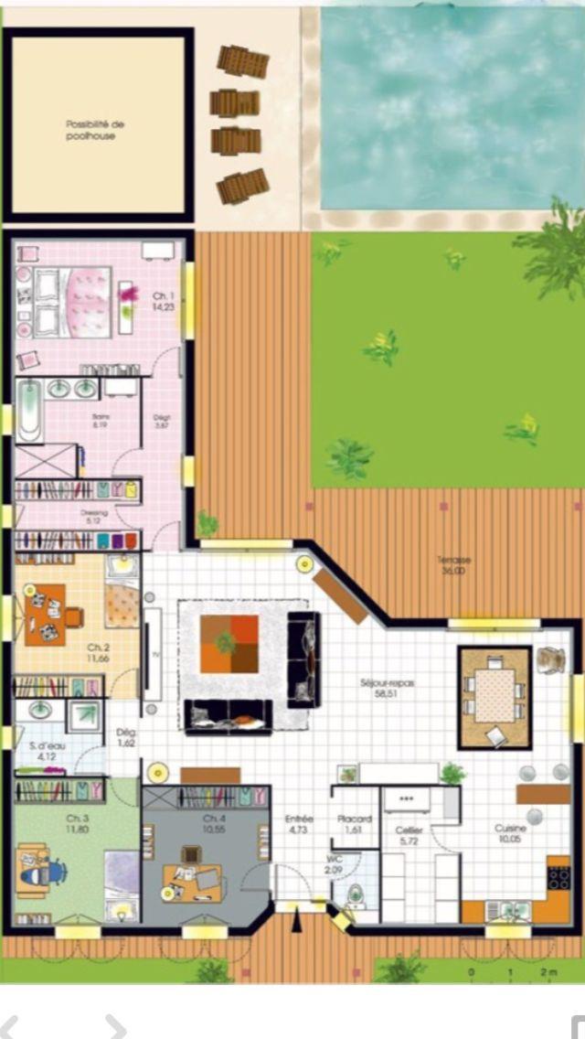 Bungalow de luxe Pinterest Bungalow and House - simulation maison a construire