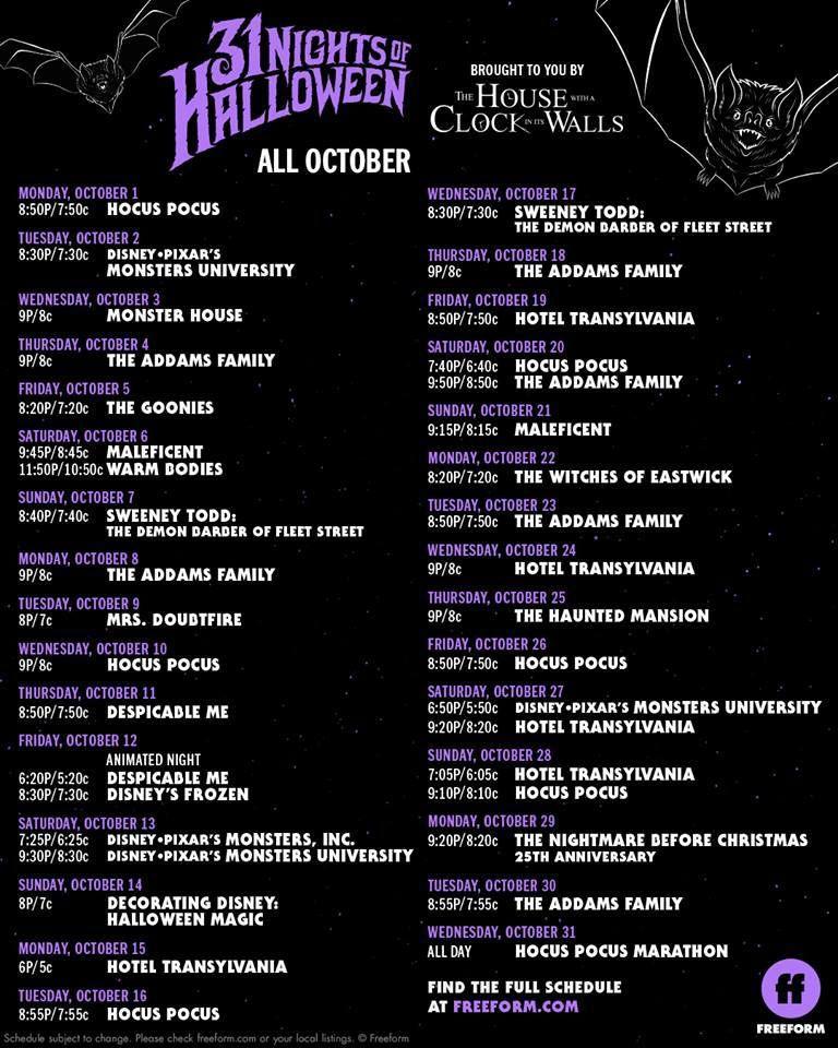 freeform 31 days of halloween  5-nights-of-halloween-5-on-freeform in 5 | 5 nights ...