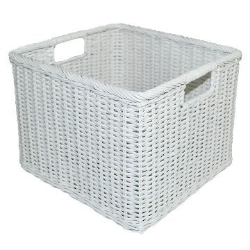 Rattan Milk Crate Large White Pillowfort Plastic Storage Cubes Milk Crates Resin Storage