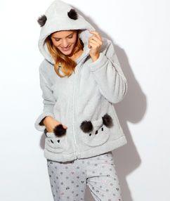 Veste pyjama femme peluche