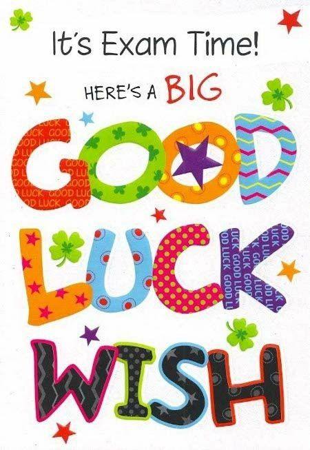 Image result for good luck - students