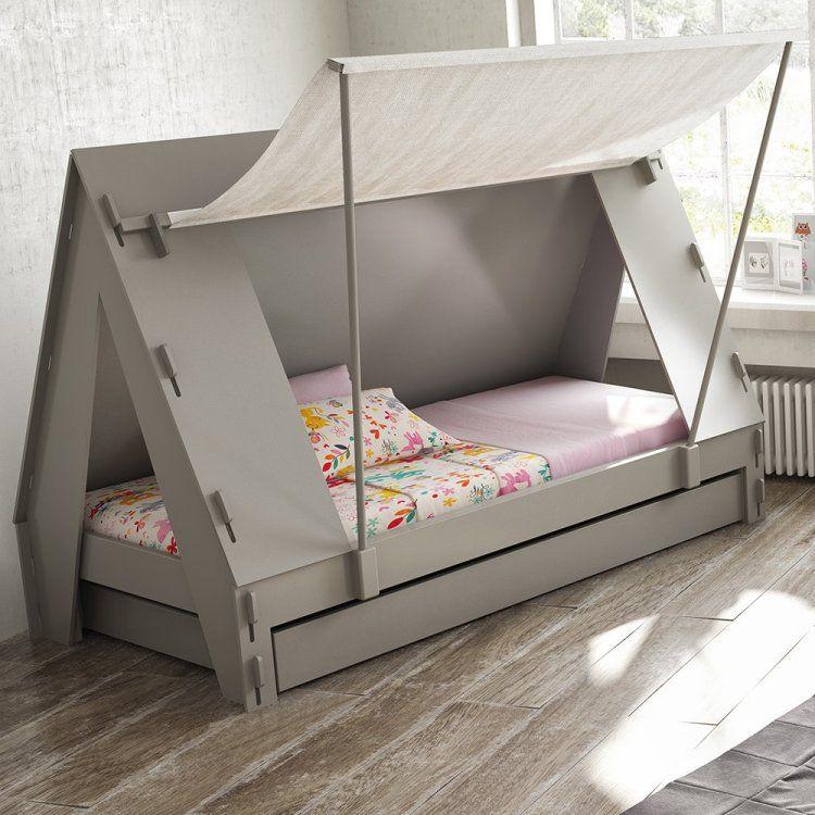 Bett Mit Zeltdach Weckt Die Fantasie Der Kinder Kids Bedroom In