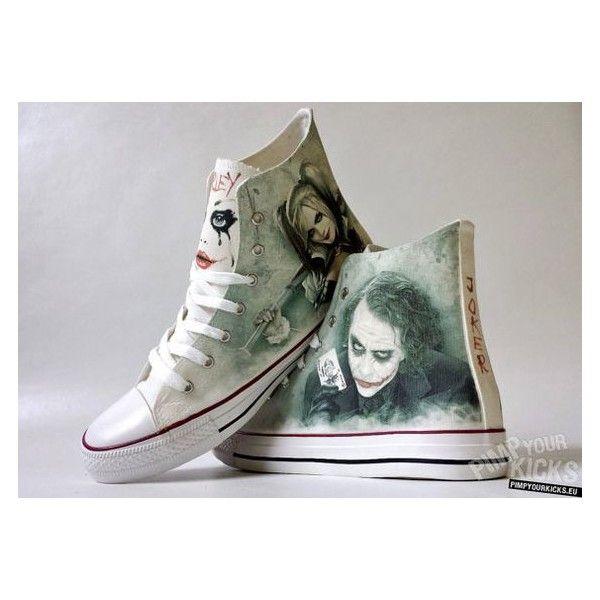 d704ed41547520 Joker Harley Quinn inspired custom shoe by PimpYourKicks on Etsy