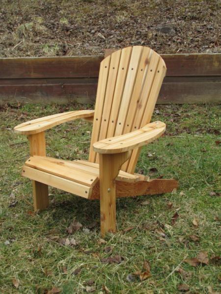 Kids Western Red Cedar Adirondack Chair Childs Outdoor Chair