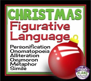 Christmas figurative language | Figurative language, Figurative language activity, Similes ...