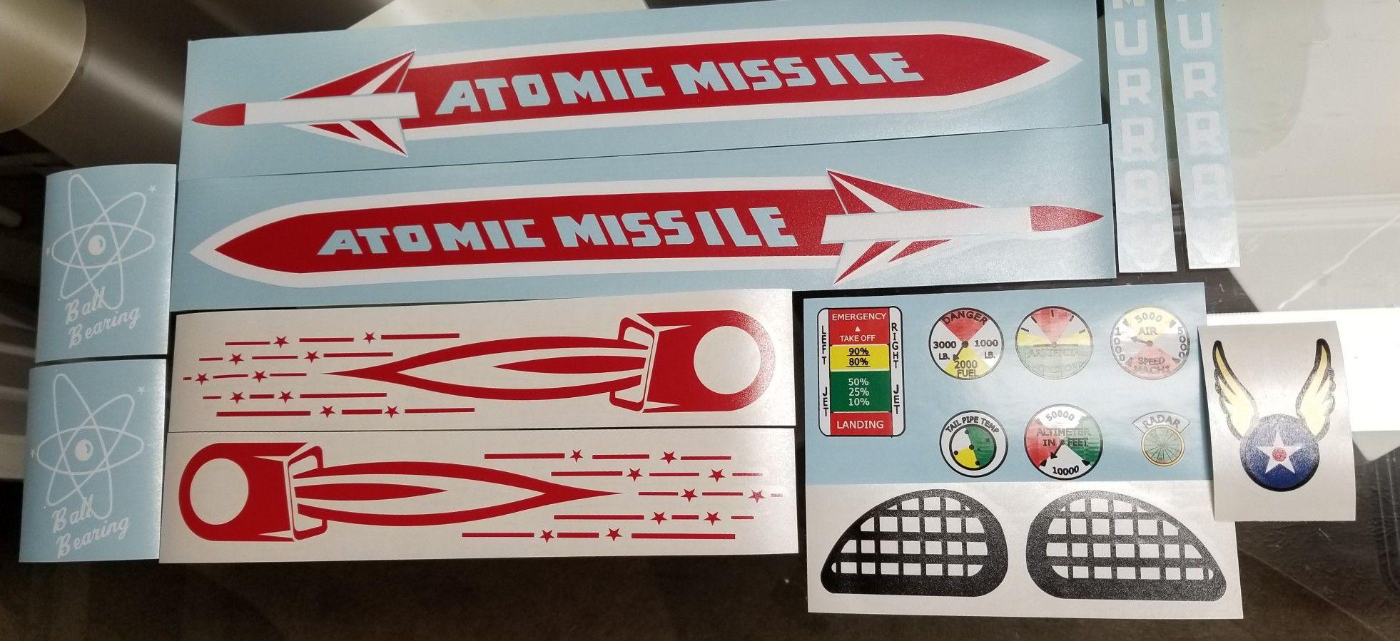 Atomic Missile Set Pedal Cars Atom Decals [ 899 x 1962 Pixel ]