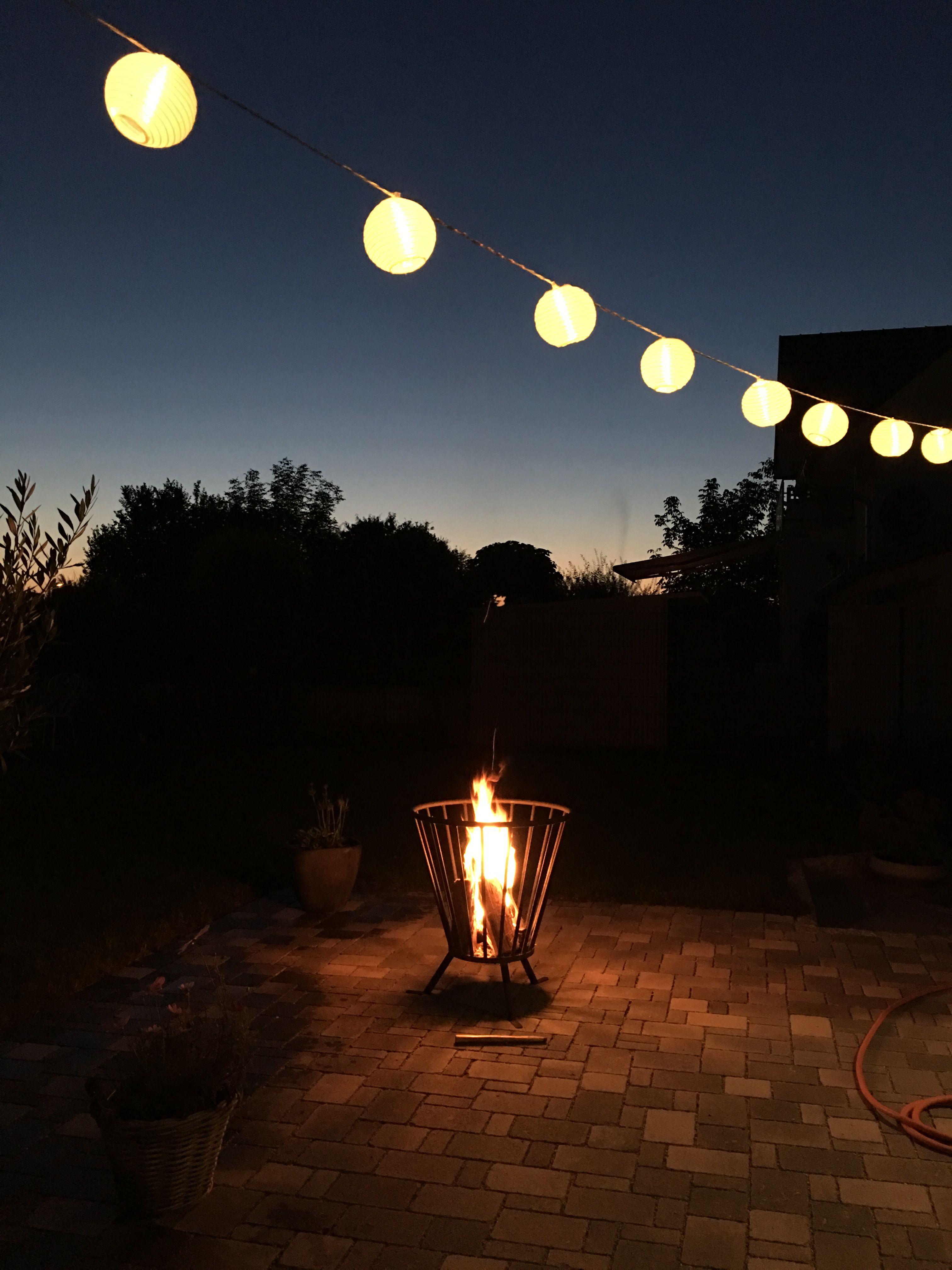 feuerkorb# lampions# spätsommer | gartenträume | pinterest, Hause und Garten