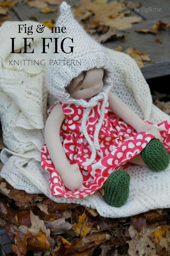 Knitting Pattern Doll Hat Waldorf Inspired Doll Clothing