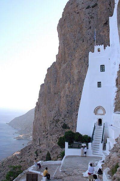 The Monastery of Panagia Hozoviotissa in Amorgos, Greece