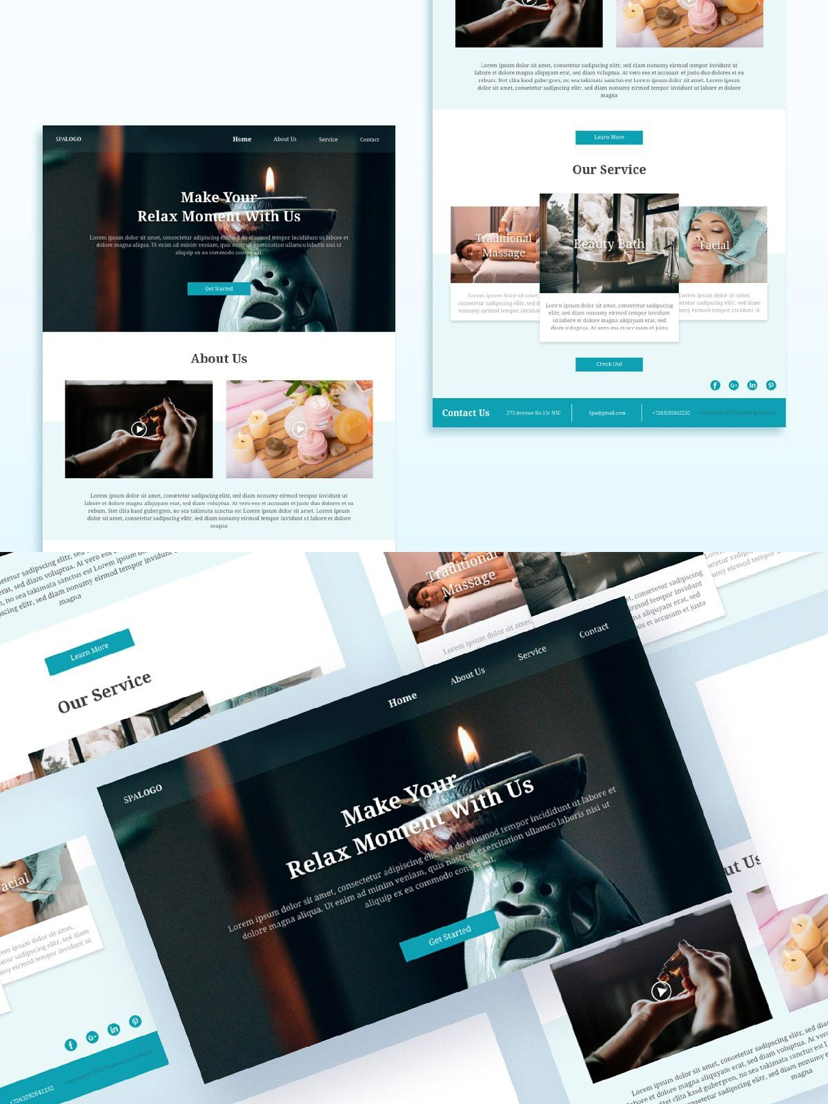 Spa Email Newsletters In 2020 Email Newsletter Template Email