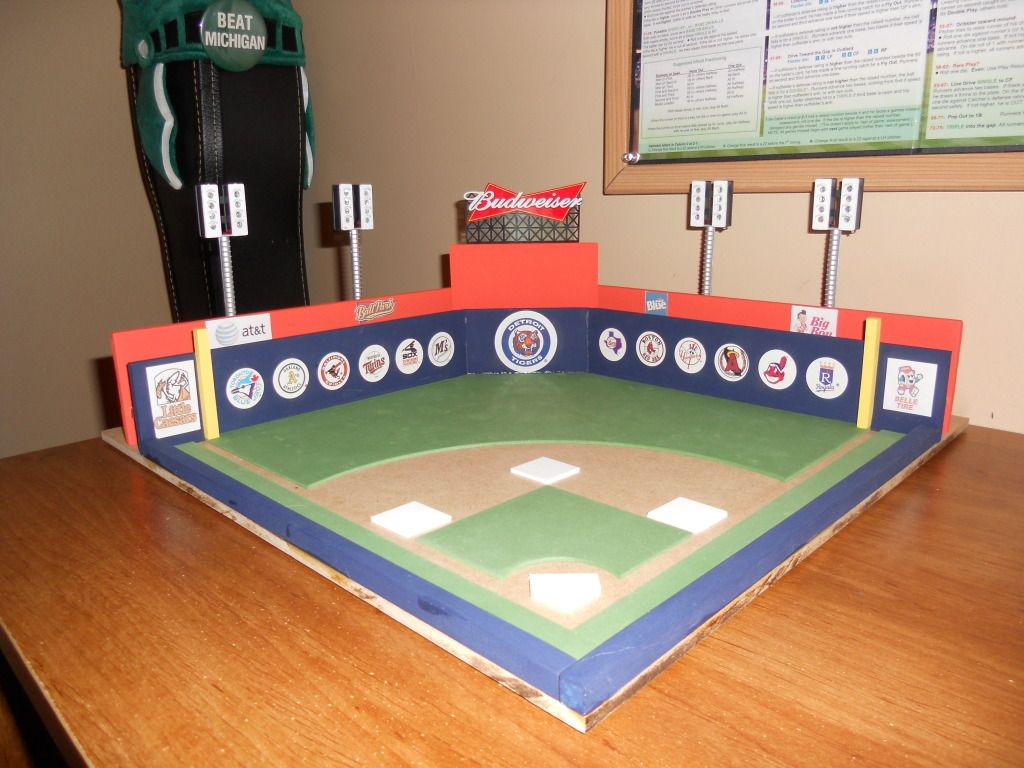 Home Of The Detroit Tigers Detroit Tigers Stratomatic Baseball Project Baseball Stadium Stratomatic