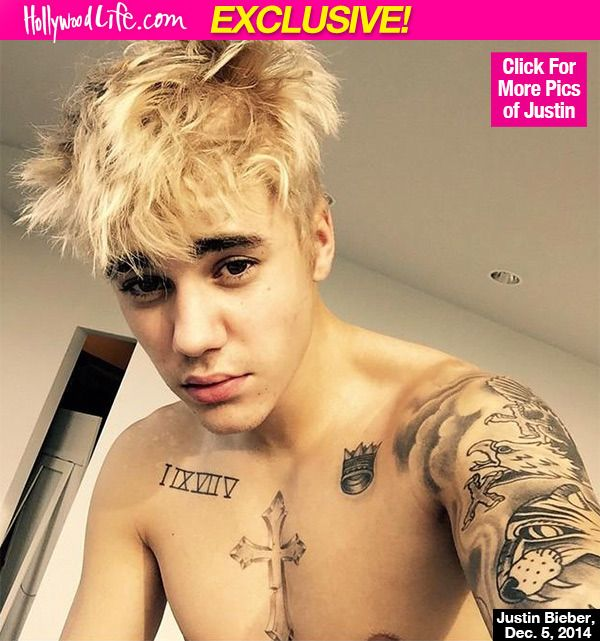 justin bieber dyed his blonde to forget selena gomez