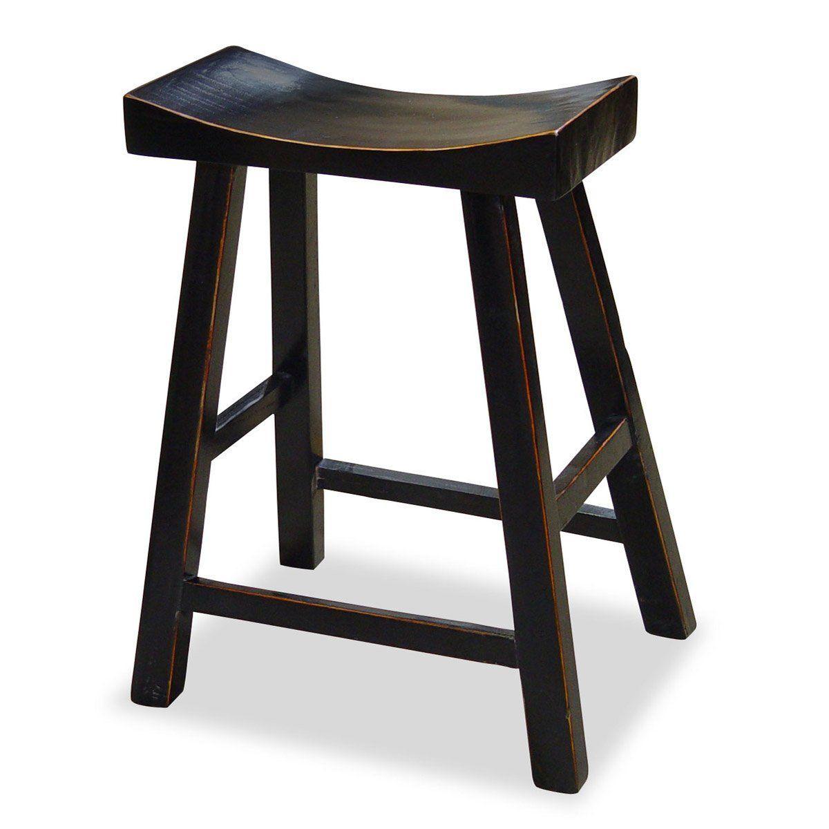 Amazon Com Asian Zen Bar Stool Black Barstools Without Backs Bar Stools Home Bar Furniture Stool