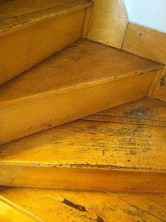 Canary yellow stairs