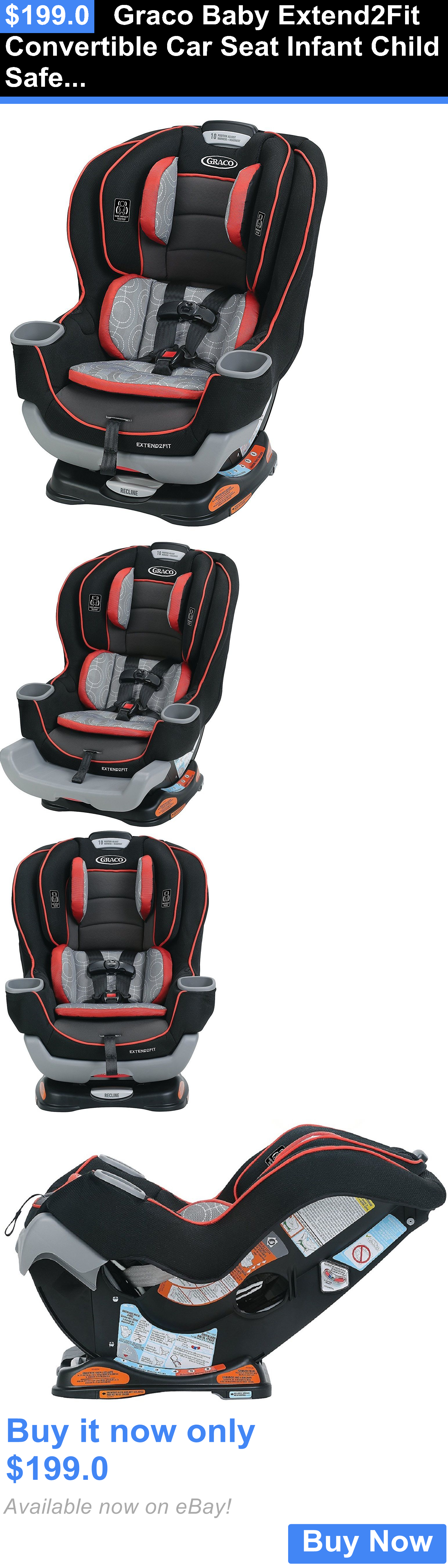 Baby And Kid Stuff Graco Extend2fit Convertible Car Seat Infant Child Safety Solar New BUY IT NOW ONLY 1990