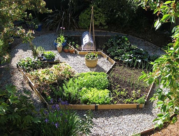 Raised compact Garden hexagon bed I would love to do this in a