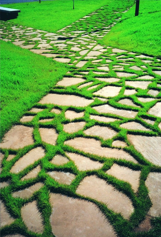 Hermoso sendero de jardín hecho con piedra natural | #piedra #jardin ...