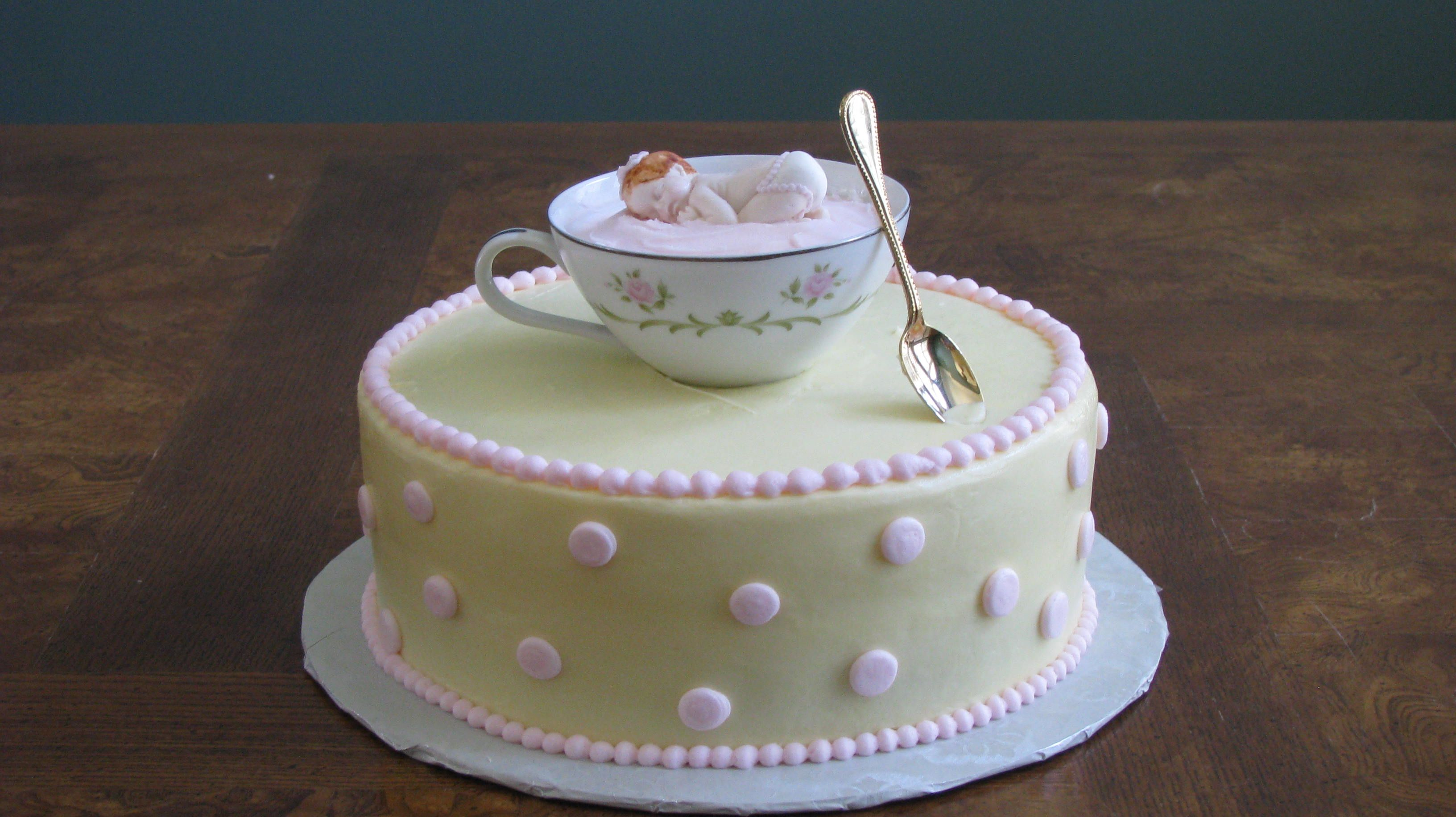 Teacup Teaparty Baby Shower Cake
