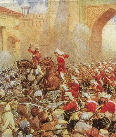The Sepoy Mutiny (1857) was a mistrust and cultural differences between the British and Indians led to violent conflict.         Causes: 1. Increase of British power in India 2. A growing distrust of British 3. British disrespect of Indian religions and culture. Effects: End of the Mogul Empire, Beginning of direct British rule in India, and India nationalist movement