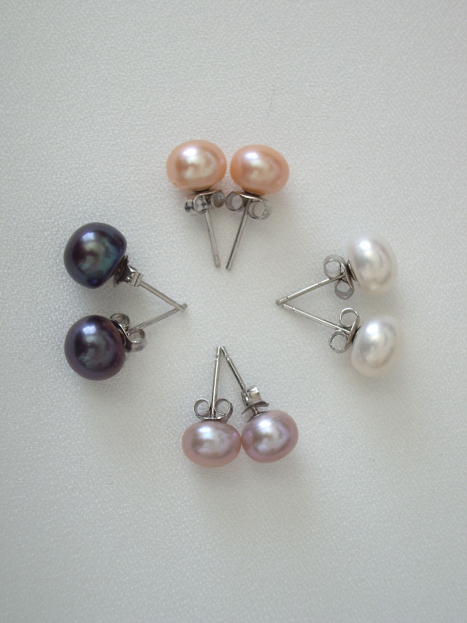 Cultured Freshwater Pearl Earrings 7mm Pearls