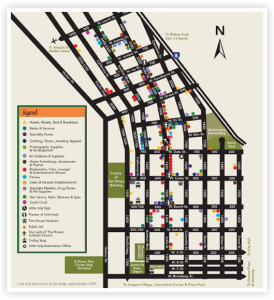 Little Italy San Diego Map.Walking Map Of Littleitaly In Sandiego Take The Trolley Down To
