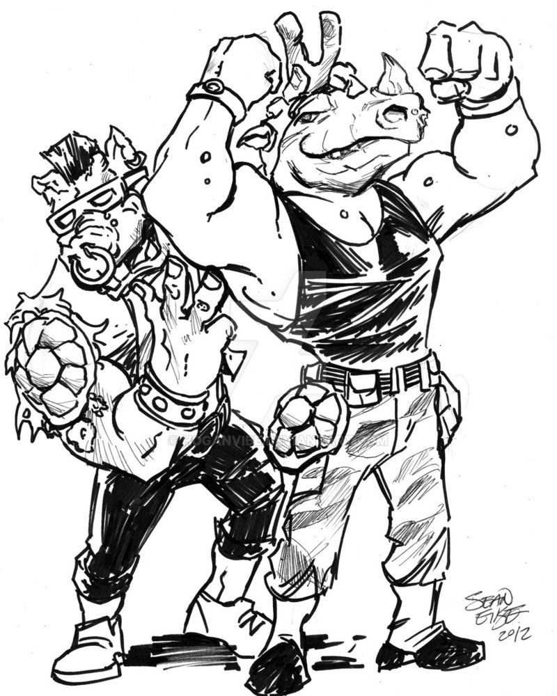 Bebop And Rocksteady By Hoganvibe Bebop And Rocksteady Ninja