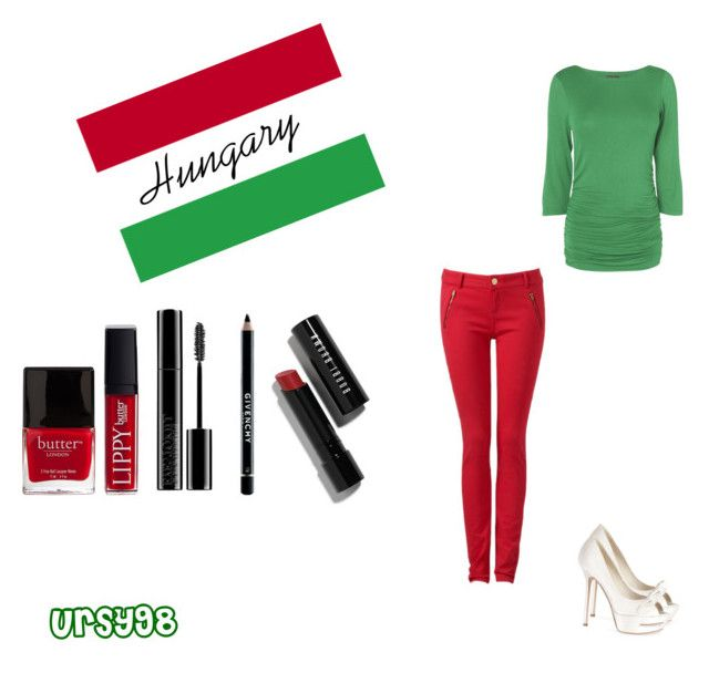 """Hungarian style _ Flag colours"" by ursy98 ❤ liked on Polyvore"