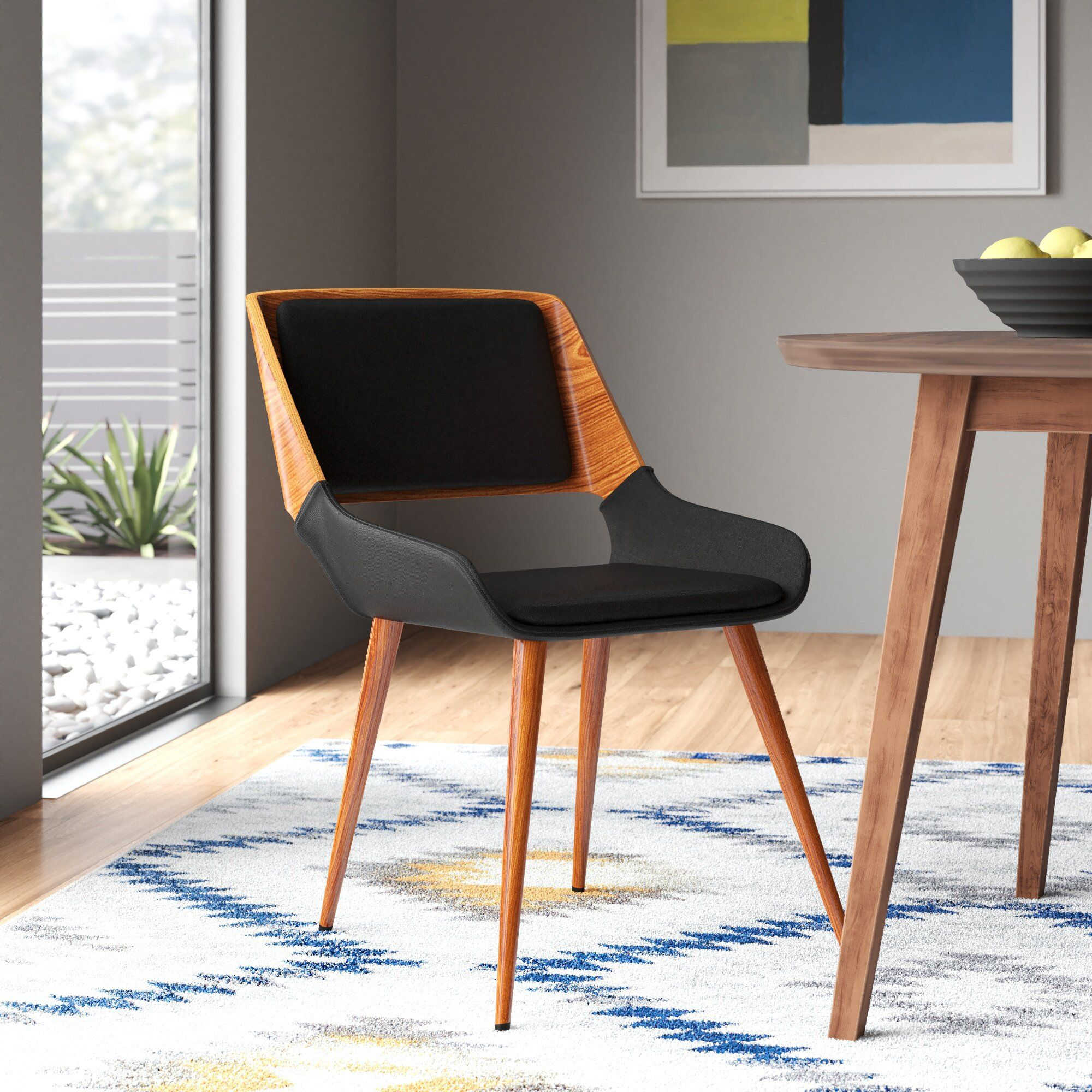 Giana solid wood dining chair reviews allmodern