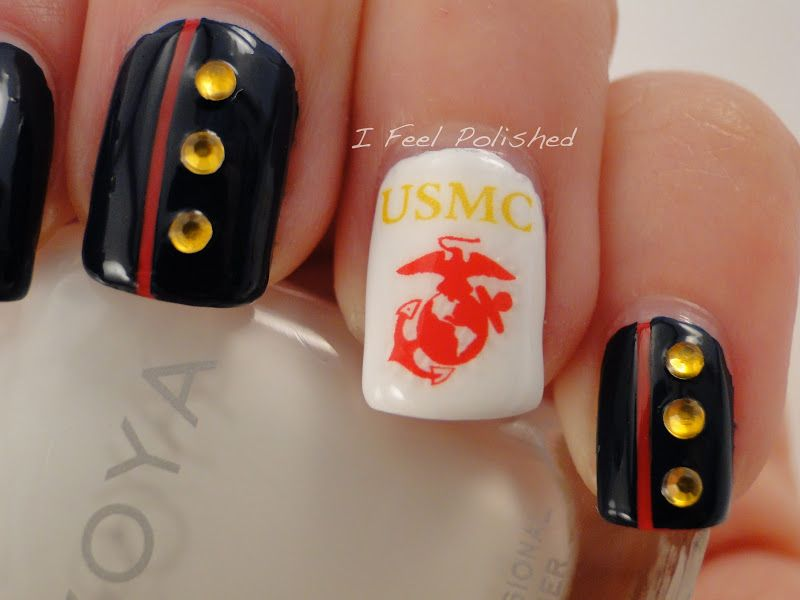 Marine corps nail decals google search military nail art marine corps nail decals google search prinsesfo Gallery