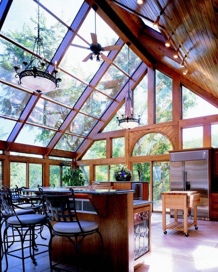 Wintergarten aus Holz selber bauen - 37 Ideen und wichtige Tipps