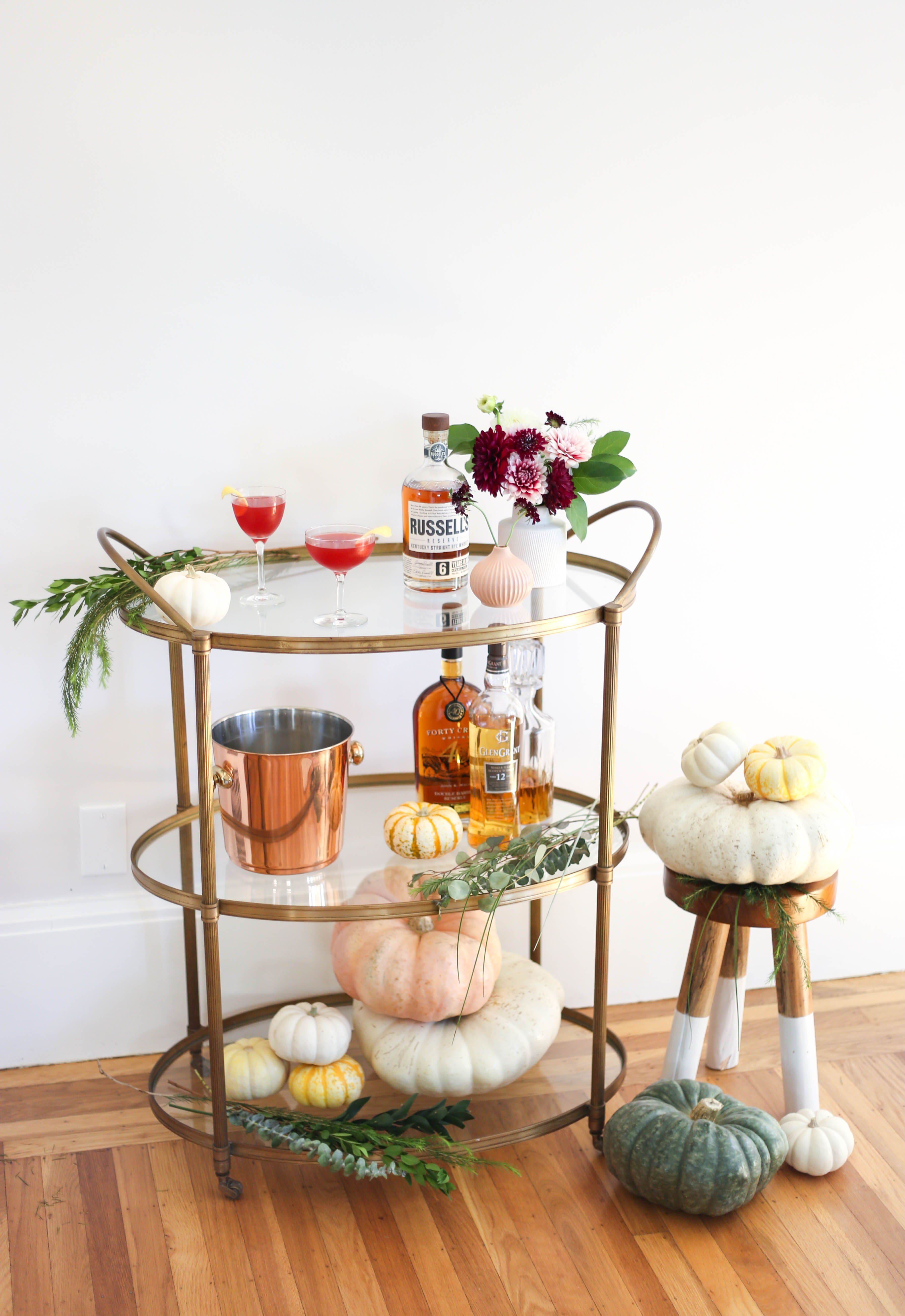 #Fall Ing For Our Festive #Barcart Just Add Some #Pumpkins And