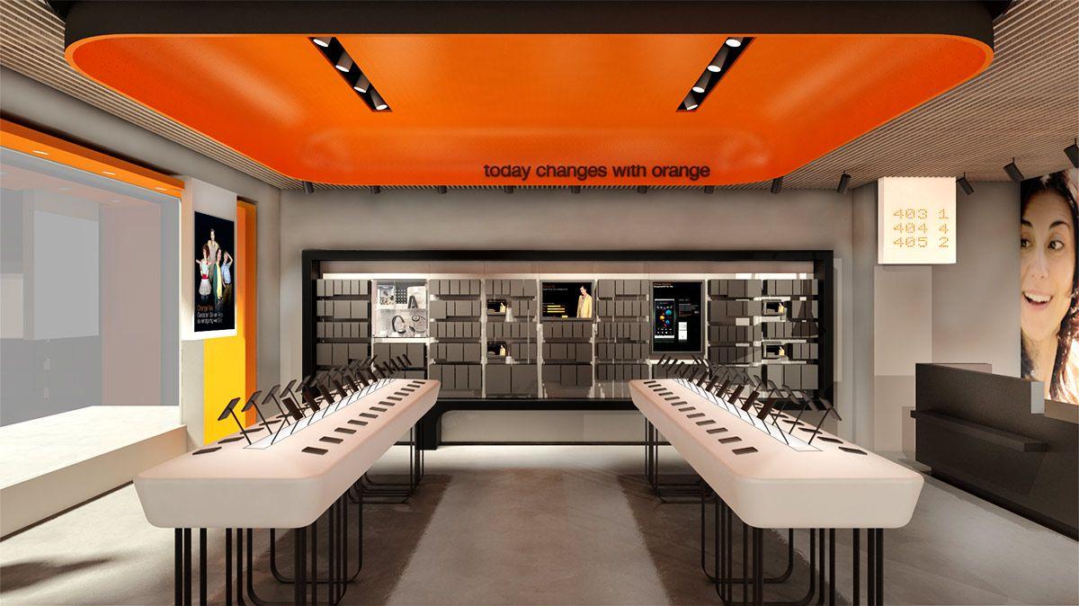 Orange Store Commercial Space Design Orange Store Store Interiors