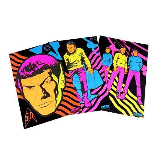 Amazon.com: Star Trek 50th Anniversary Black Light Poster Set of 3
