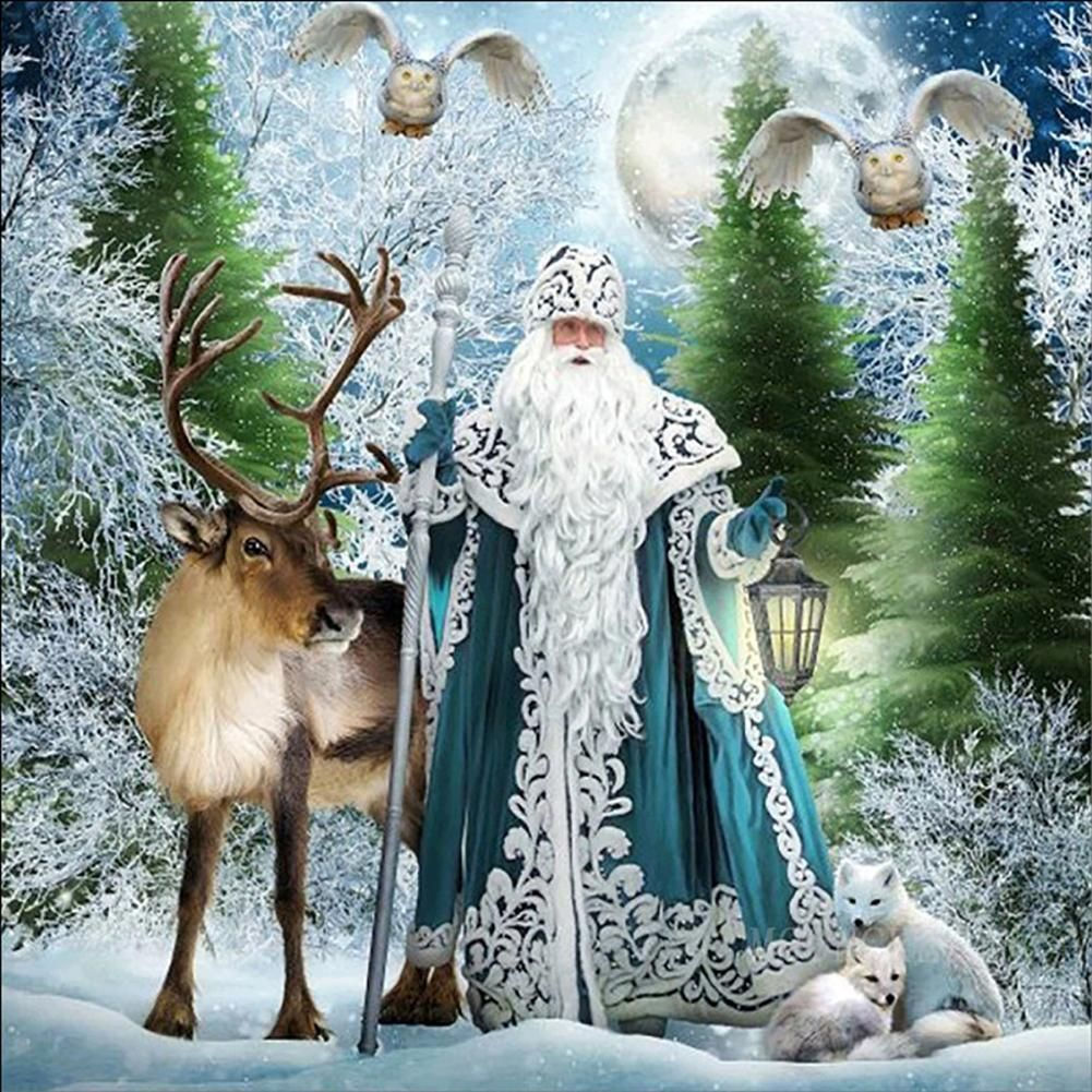 Photo of Snowy World Santa Claus 5D Diamond Painting DIY Cross Stitch Home Decor Picture – as the picture ah