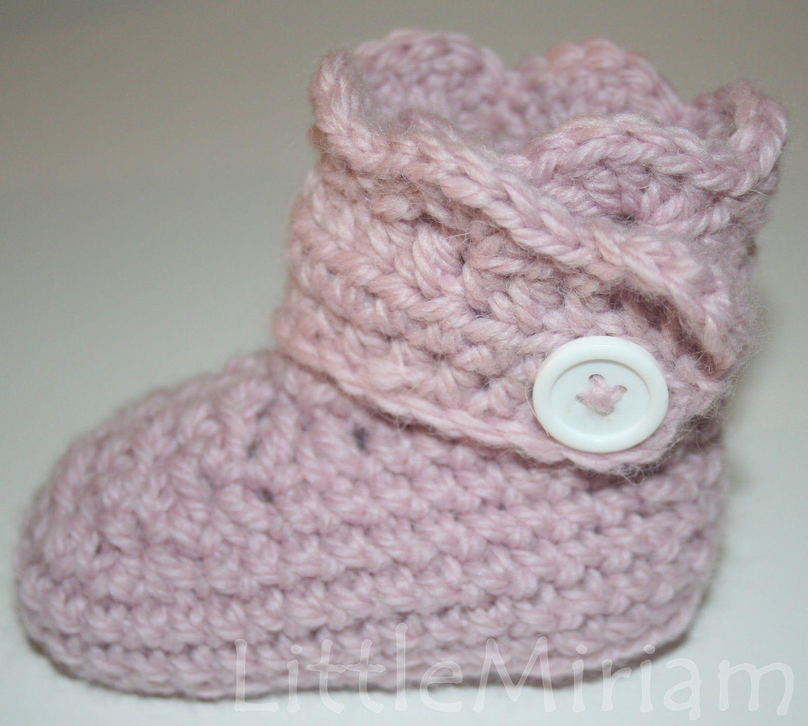 LittleMiriam: Wrap around baby boots