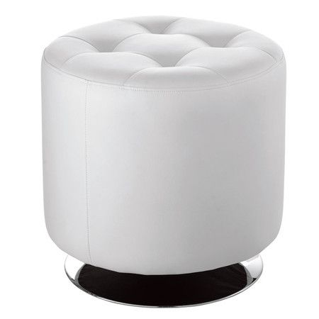 I Pinned This Small Domani Tufted Ottoman In White From The Sunpan
