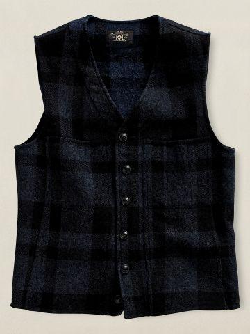 Wool Plaid Vest $269.99