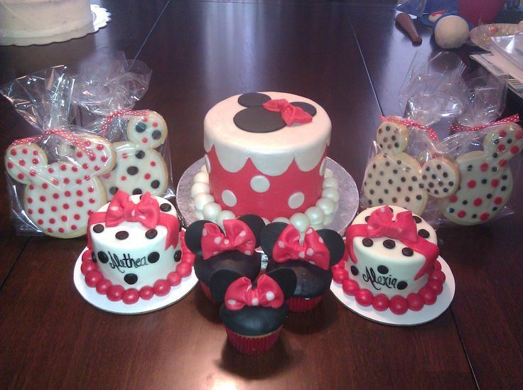A Minnie Mouse Affair This was for a friend of mine Her twins