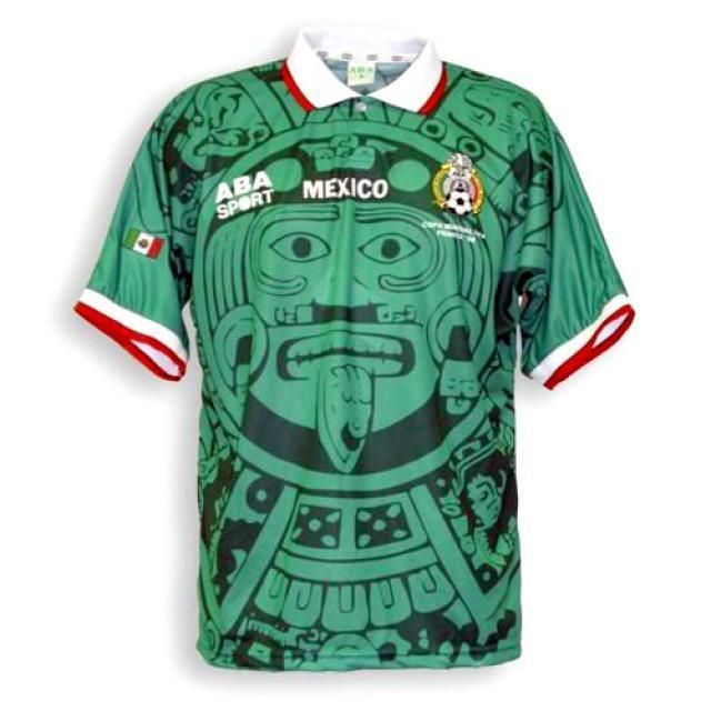 667a9fab1 Mexico 1998 Home Men Soccer Retro Jersey Personalized Name and Number