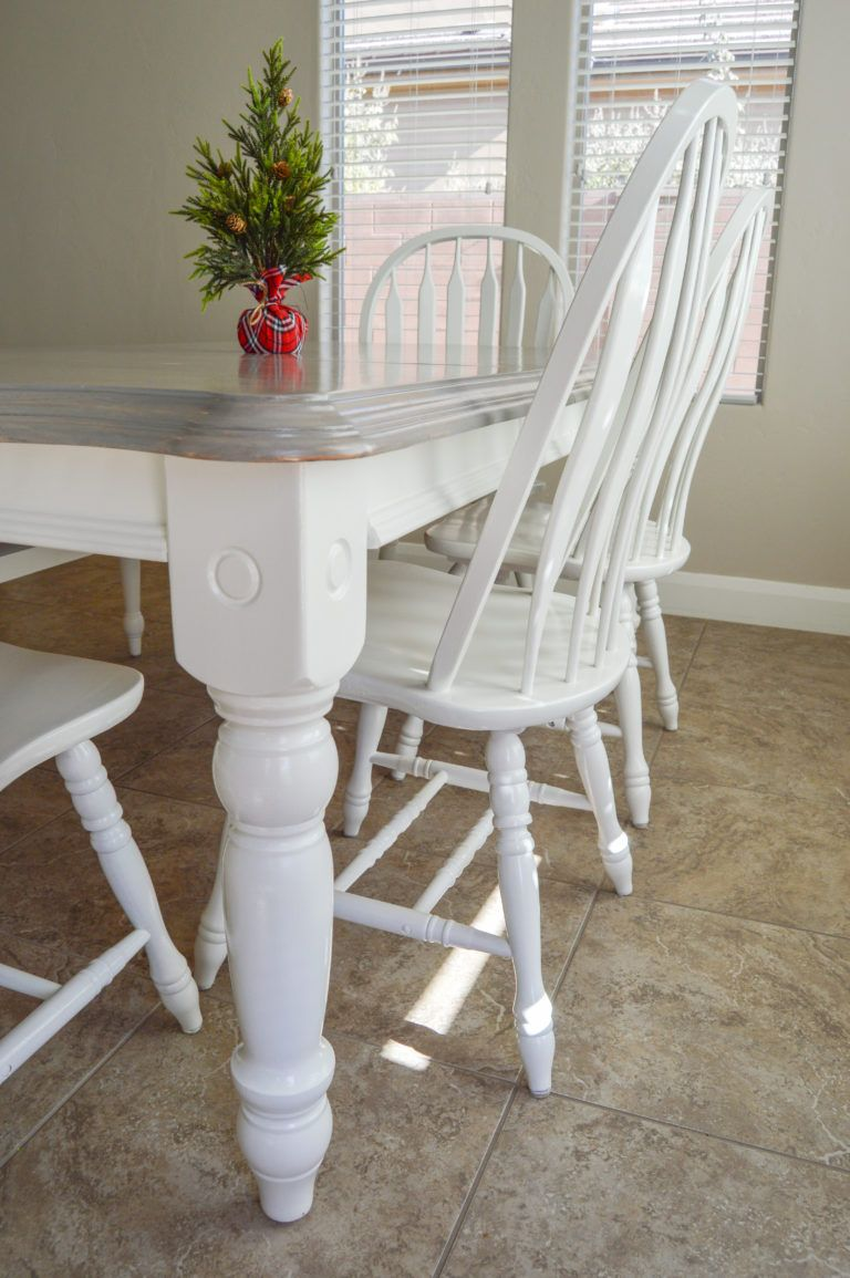 Diy Grey Paint Wash Dining Table Chairs Painted Dining Table