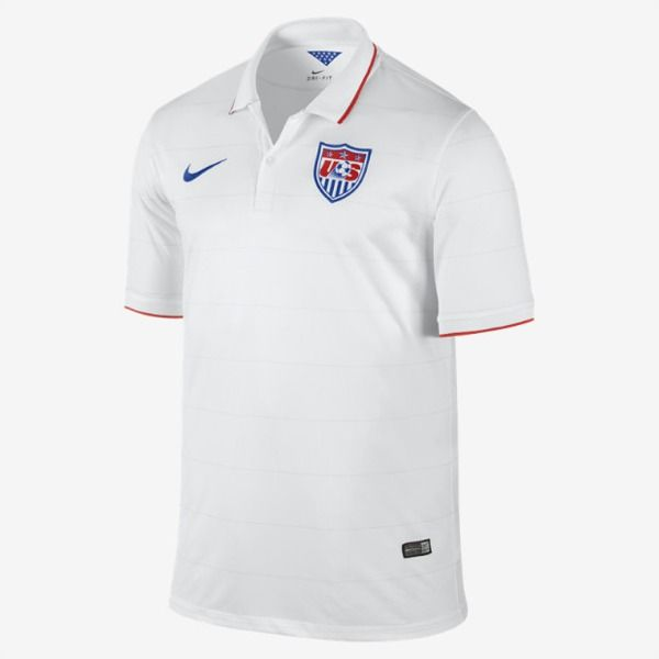 Nike Usa 2014 Official Home Soccer Jersey Model 578024 105 Soccer Shirts Soccer Jersey Soccer