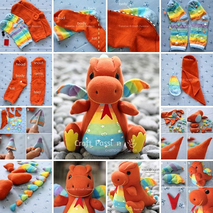 Sock Dragon - Free Sewing Pattern | Pinterest | Drachen, Sockentiere ...