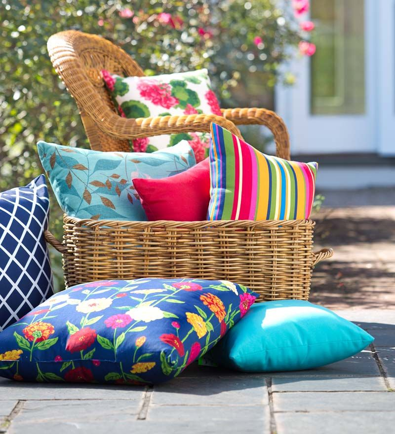 Outdoor All Weather Cushions And Pillows Are A Quick Update And Are