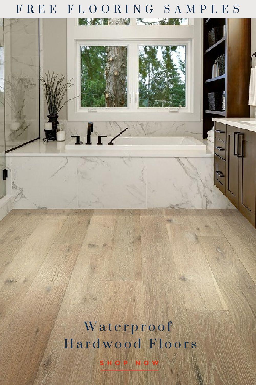 Waterproof Hardwood Flooring in 2020 Waterproof bathroom
