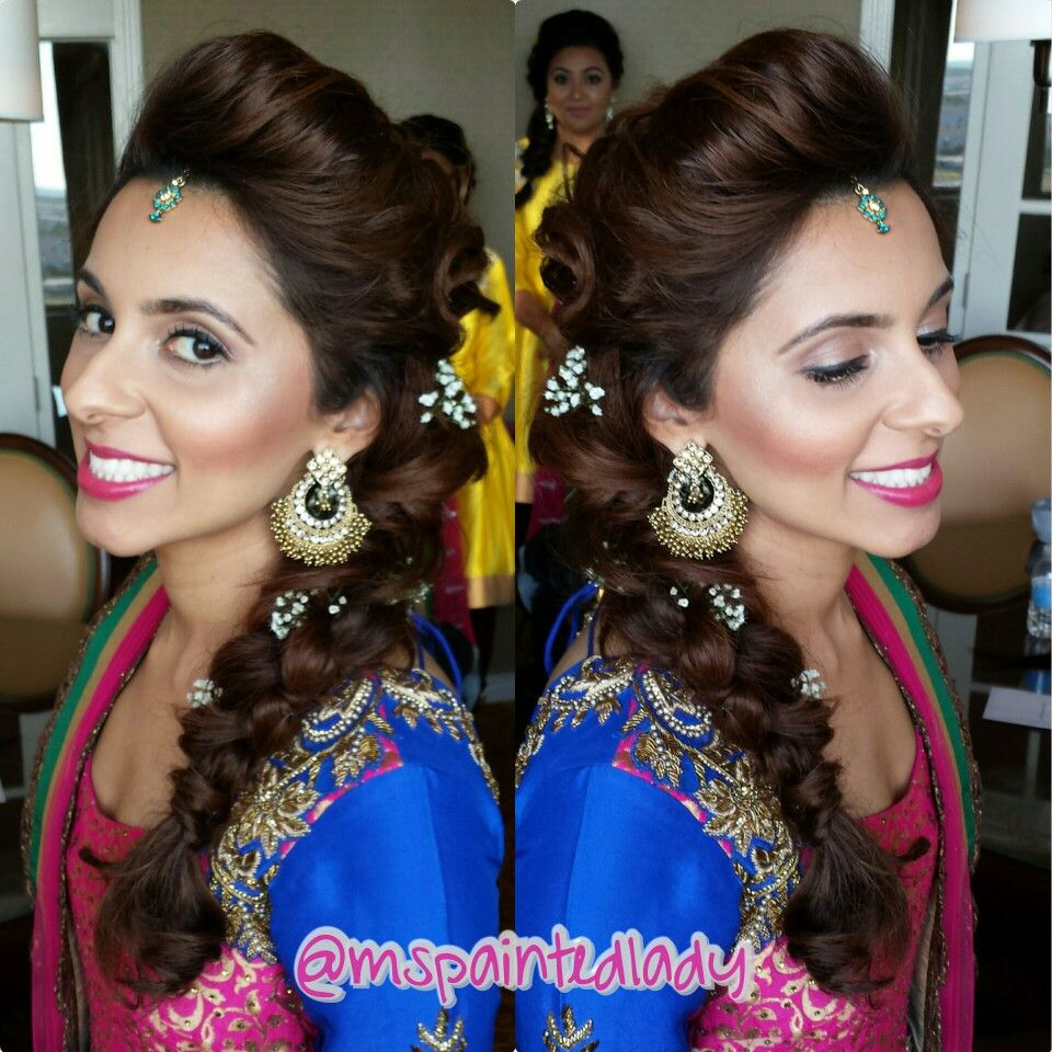 desi bridal makeup and hair. dallas indian bride by ms painted